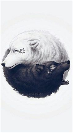 25 of the best wolf tattoos you need to see - - par . - 25 of the best wolf tattoos you need to see – Partners … – 25 of the b - Yin Yang Tattoos, Tatuajes Yin Yang, Arte Yin Yang, Ying Y Yang, Tattoo Chat, Seele Tattoo, Yin Yang Wolf, Tattoo Arm Mann, Arm Tattoo
