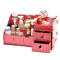 Organizador Organizer Find Manufacturers Show Seoul Explosion Oversized 30 Korean Cosmetics Cosmetic Box Desktop Diy Wooden Cosmetic Box, Cosmetic Storage, Make Up Organiser, Organiser Box, Wooden Storage Boxes, Wooden Boxes, Drawer Storage, Seoul, Box Creative