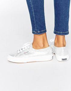 Bild 1 von Superga – 2750 – Klassische, silberne Sneakers