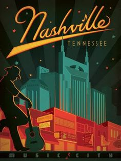 Nashville Travel Poster | Anderson Design Group #illustration