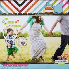 My Creative Scrapbook July Creative kit created by Becky Litz. Photo Layouts, Scrapbook Page Layouts, Scrapbook Pages, Scrapbooking Ideas, Happy Photos, Image Layout, Photo Memories, Simple Stories, Large Photos