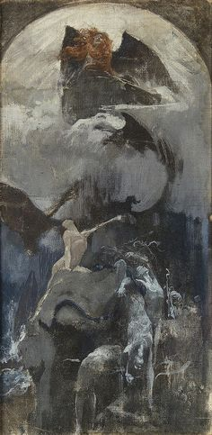 ADOLF HIREMY-HIRSCHL 1860 - 1933 Singing to the moon