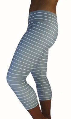 Striped Capri - Grey [New & Improved Fit] – KIAVAclothing