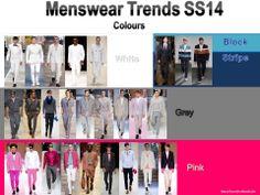 Menswear SS14 colours