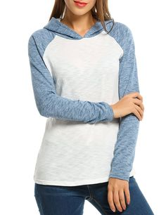 Zeagoo Women's Pullover Hoodie Raglan Sleeve Casual Slim Hooded Sweatshirt ** This is an Amazon Affiliate link. Details can be found by clicking on the image.