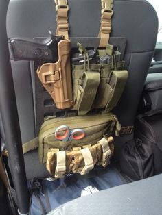 Law enforcement LEO Vehicle Grey Man Tactical Rigid MOLLE Panel RIP-M seat back tactical molle gear organizer