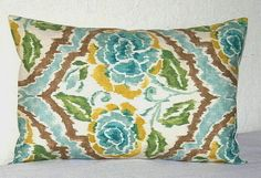 Turquoise 12x18 inch Lumbar Decorative Pillow Cover by PatsTable
