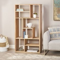 Diy Bookshelf Wall, Unique Bookshelves, Modern Bookshelf, Bookshelf Design, Cubby Shelves, Bookshelf Ideas, Book Shelves, Corner Shelves, Modular Bookshelves