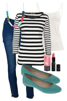 Striped Sunday Outfit includes JAG, Therapy, and Butter London - Birdsnest Online Shop