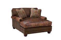 Beautiful fabric/leather combo chaise on sale for $2,499.00! Call now 817.244.9377 www.brumbaughs.com