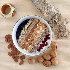 My Casual Brunch: Papas de aveia com mix de frutos secos e sementes