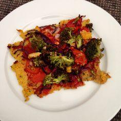 Polenta Pizza Polenta Pizza, Ratatouille, I Love Food, Ethnic Recipes