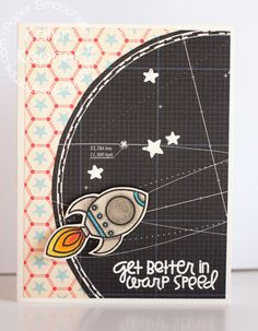 Card by PS DT Kalyn Kepner using the PS stamp set Space Cadet