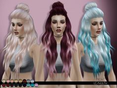 The Sims Resource: LeahLilith – Night hairstyle • Sims 4 Downloads