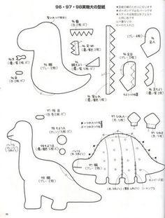dinosaurios+fieltro+molde+2.jpg (365×481)