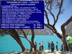 TOUR HUARAZ  4 DIAS – 3 NOCHES, Operadores especializados en la organización de PROGRAMA DE TOURS EN HUARAZ ANCASH PERU, contamos con un equipo de profesionales de experiencia laboral en el campo del Turismo Convencional – TOUR - BUS, cuyo objetivo principal es brindar calidad, seguridad y garantía en todos nuestros servicios, de esa manera, cumplir con las expectativas y exigencias del Cliente. Nosotros le ayudaremos en la organización de su Programa de Tours en Perú