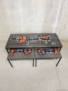 Vintage Salontafel / Tile Table Set U0027Adriu0027