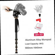 54.90$  Buy here - http://ali1we.worldwells.pw/go.php?t=32663816262 - QZSD Q188 Load 8kg  560mm-1640mm Aluminum Alloy Monopod Portable Unipod 5-Sections For Canon Nikon DSLR Camera Adjustable Tripod