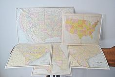5 Antique Maps Maps Of United States South Carolina Map Vintage Maps, Antique Maps, South Dakota, South Carolina, British America, United States Map, Old Maps, Fathers Day, My Etsy Shop