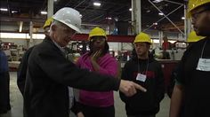 Featured on Mike Rowe Works (and too true, IMO): News PKG: Teens 'made' for manufacturing by Susanna Pak. Gone are the days of dusty, dirty, smoke-pumping factories. Manufacturing in the United States is now cleaner, more efficient and high-tech. Even in a sluggish economy, there are hundreds of thousands of job openings in the field. The only problem: teens and young adults aren't interested in manufacturing. One Illinois-based internship program is working to change that.