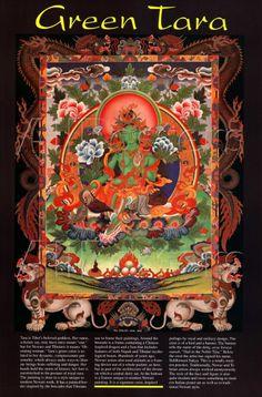 green tara Raw Living, Green Tara, Tibetan Art, Buddhist Art, Cooking Videos, Deities, Buddha, Stuffed Tomatoes, Meditation