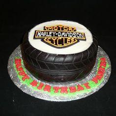 Harley Davidson Tire Cake