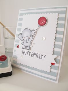 Adorable Elephants - MFT.  Card by Nicky Noo Cards https://www.facebook.com/nickynoocards/