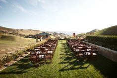Santa Ynez private estate wedding ceremony.  www.mikiandsonja.com