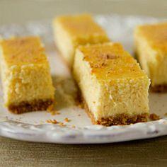 Eggnog cheesecake bars! So perfect