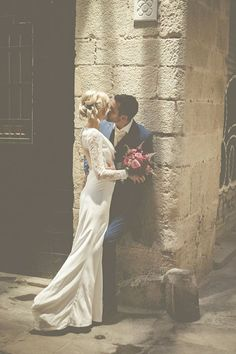 modern wintage wedding photo inspiration