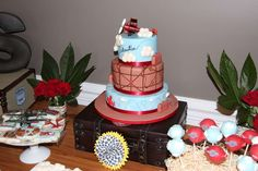 Vintage Airplanes/Word travel Birthday Party Ideas | Photo 1 of 63 | Catch My Party
