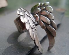Ring | Andrea Schettino. 'Blackbird' Handmade from sterling silver.