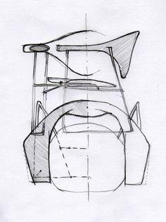 Masculo Chair by GamFratesi // Gubi