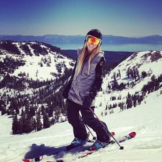 From a sunny day in Tahoe a few weeks back :) @Oakley Women #tahoe #ski…