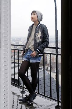 The Ginta Embroidered Bomber Jacket