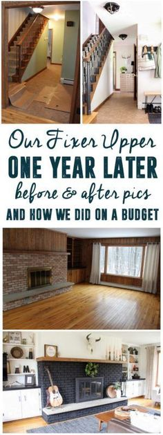 It's amazing how one family TOTALLY re-did a house on a budget in one year. www.BrightGreenDoor.com