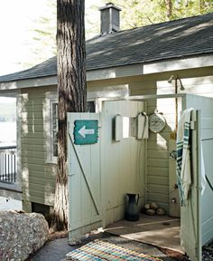 You've considered installing an outdoor shower.