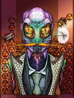 """Saatchi Art Artist Bart Hellemans; Drawing, """"Insectsuit"""" #art"""