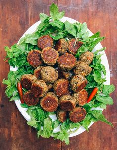 """We've partnered with Vitamix to create this post! Enjoy! The phrase """"vegetarian meatballs"""" does admittedly sound like a bit of an oxymoron. But while these Southeast Asian-inspired vegetarian meatballs don't in fact involve meat, they are deeelicious. Okay, so let me get something out of the way before I move on. I sense that all …"""