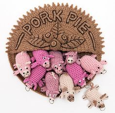 Pork Pie by Rebecca Hossack is part of an exhibit in London until 7/24/10. Made of lambswool.