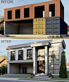 Building A Container Home, Container Buildings, Container Architecture, Architecture Design, Sustainable Architecture, Shipping Container Home Designs, Container House Design, Tiny House Design, Prefab Shipping Container Homes