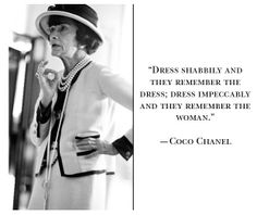 Coco Chanel Quote #Chanel #quotes #blackandwhite