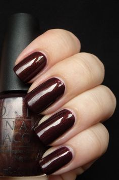 "OPI - ""Espresso Your Style"". Note: Perfect for gingerbread nail art! 