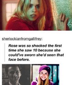 Rose Tyler. Doctor Who. O.M.G. I was litterally just thinking.about.this!!