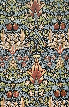 William Morris (24 March 1834 – 3 October 1896) was an English textile designer, artist, writer, and libertarian socialist associated with the Pre-Raphaelite Brotherhood and English Arts and Crafts Movement. He founded a design firm in partnership with the artist Edward Burne-Jones, and the poet and artist Dante Gabriel Rossetti which profoundly influenced the decoration of churches and houses into the early 20th century.