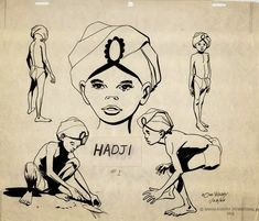 """Hadji, the Asian boy who is """"adopted"""" by Professor Quest who becomes the friend of Jonny Quest. Hadji's role is to keep Jonny company and is at the beck and call of the Quests and Race Bannon. Essentially, Hadji is a human pet. William Hanna, Classic Cartoons, Cool Cartoons, Retro Cartoons, Hanna Barbera, Comic Book Artists, Comic Books Art, Studio Ghibli, Dreamworks"""