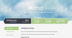 Motio - Small JavaScript library for sprite based animations and panning