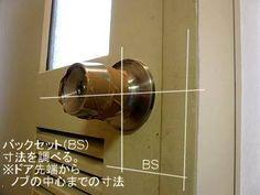 鉄のドアについているノブを外す。