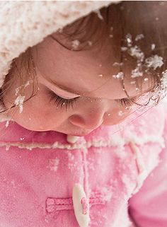 snow baby in pink...