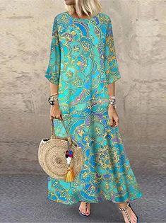 Γυναικεία Φόρεμα ριχτό Φόρεμα μέχρι το γόνατο - Μισό μανίκι Φλοράλ Στάμπα Καλοκαίρι Λαιμόκοψη V Καθημερινό καυτό φορέματα διακοπών Φαρδιά 2020 Θαλασσί M L XL XXL 3XL 2020 - € 16.9 Shift Dresses, Women's A Line Dresses, Cheap Maxi Dresses, Half Sleeve Dresses, Knee Length Dresses, Casual Dresses, Summer Dresses, Floral Dresses, Vacation Dresses